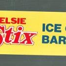 VINTAGE BORDEN ELSIE STIX ICE CREAM BAR SUPERMARKET / STORE SIGN