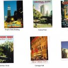 SET OF SEVEN ALFRED MAINZER POSTCARDS NEW YORK CITY CITY HALL
