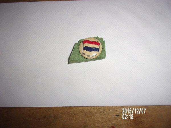 VINTAGE NETHERLANDS FLAG PIN 1920s-1930s