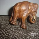VINTAGE HAND CARVED WOODEN ELEPHANT FIGURINE
