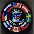 BRAND NEW NY NEW YORK RANGERS 2007 PLAYOFFS BE A RANGER HOCKEY PUCK