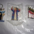 BRAND NEW LOT OF THREE RADIO CITY CHRISTMAS KEYCHAINS ROCKETTES SCROOGE SOLDIERS