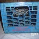 VINTAGE MARCUS DAIRY BLUE PLASTIC CRATE