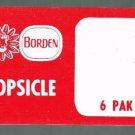 VINTAGE BORDEN ELSIE RED SUPERMARKET / STORE DISPLAY SIGN - POPSICLE 6 PAK