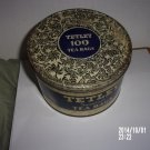 VINTAGE TETLEY TEA 'HUNDREDS' 100 TEA BAGS TIN