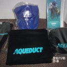 LOT OF 2016 AQUEDUCT RACETRACK HORSE RACING ITEMS SCARF HAT GLOVES CAP PROGRAM