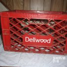 VINTAGE DELLWOOD MILK DAIRY PLASTIC RED CRATE