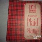 VINTAGE MACDONALD PLAID STAMP PAPER SAVER BOOK