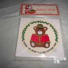 VINTAGE SANTA'S VISIT PIERRE THE BEAR 1983 CHRISTMAS STICKERS PACK