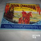 VINTAGE ROYAL CANADIAN PALE GINGER ALE PAPER LABEL