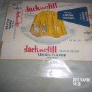 VINTAGE JACK AND JILL GELATIN DESSERT LEMON FLAVOR PAPER BOX
