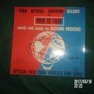 VINTAGE 1964 1965 WORLD'S FAIR FAIR IS FAIR SOUVENIR RECORD