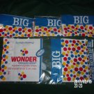LOT OF FOUR 4 1960s WONDERBREAD BIG BAG WRAPPERS