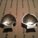 VINTAGE SET OF TWO SEA SHELL TEA BAG SPOON RESTS  MADE IN JAPAN