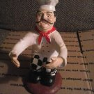VINTAGE ITALIAN CHEF WINE BOTTLE HOLDER