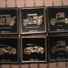 VINTAGE SET OF SIX FORD LEATHER COASTERS  MADE IN AUSTRIA