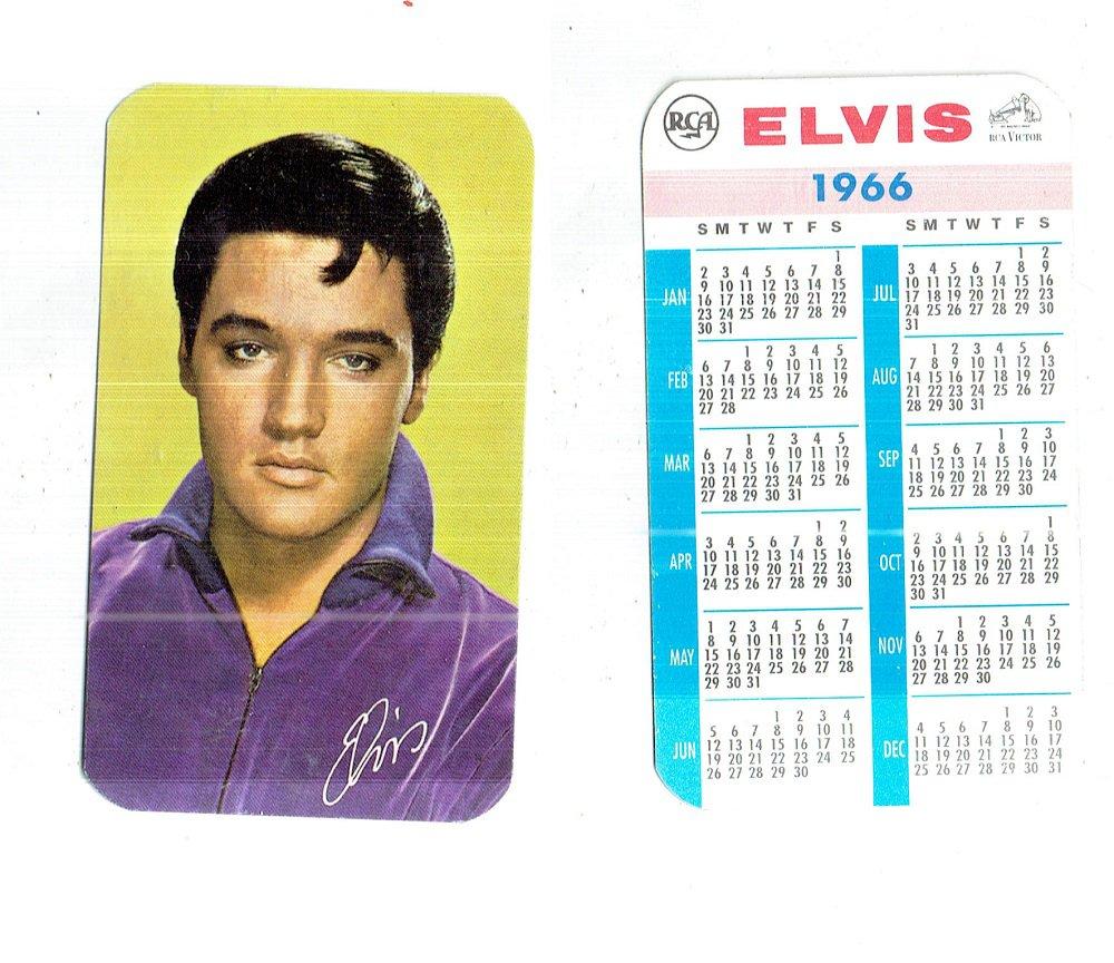 VINTAGE ELVIS PRESLEY RCA 1966 POCKET CALENDAR   NOS