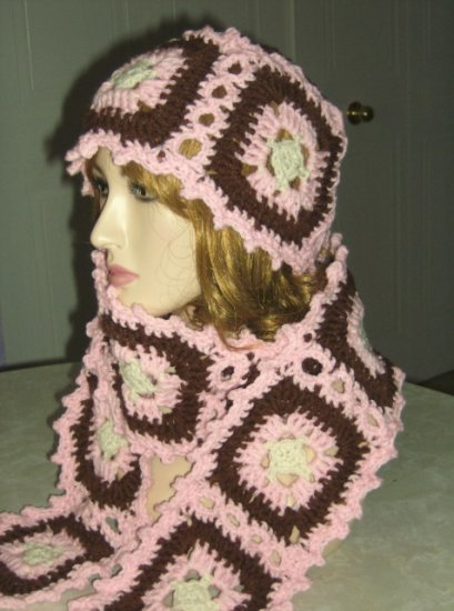 Granny Square Hat, Scarf and Poncho Crochet Pattern