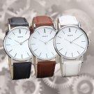 New Men Women Geneva Fashion Leather Analog Stainless Steel Quartz Wrist Watch
