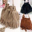 Fashion Women Fringe Leather Tassel Shoulder Bag Crossbody Bag Messenger Handbag