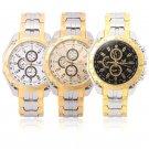 Fashion Men's Luxury Stainless Steel Band Sport Quartz Analog Wrist Watch