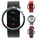 Women's Fashion Lady Transparent Dial Analog Quartz Leather Wrist Watch