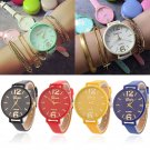 Charm Men Women Geneva Fashion Leather Analog Stainless Steel Quartz Wrist Watch