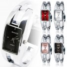 KIMIO Stainless Steel Quartz Suqare Bracelet Bangle Women Lady Wrist Watch NEW