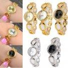 Fashion Women's Bracelet Stainless Steel Crystal Dial Analog Quartz Wrist Watch