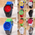 New Women's Men's Colorful Rubber Band Wrist Watches Quartz Analog Sport Watch