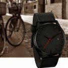 Fashion Men's Simple Outdoor Matte Leather Alloy Quartz Calendar Wrist Watches