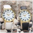 Fashion Women's Casual Watches Dial PU Leather Quartz Analog Dress Wrist Watch