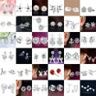 HOT Women 925 Silver Crystal Rhinestone Ear Stud Earrings Fashion New