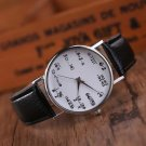 Men Women Watch Leather Stainless Steel Sports Casual Watch Quartz Wrist Watch