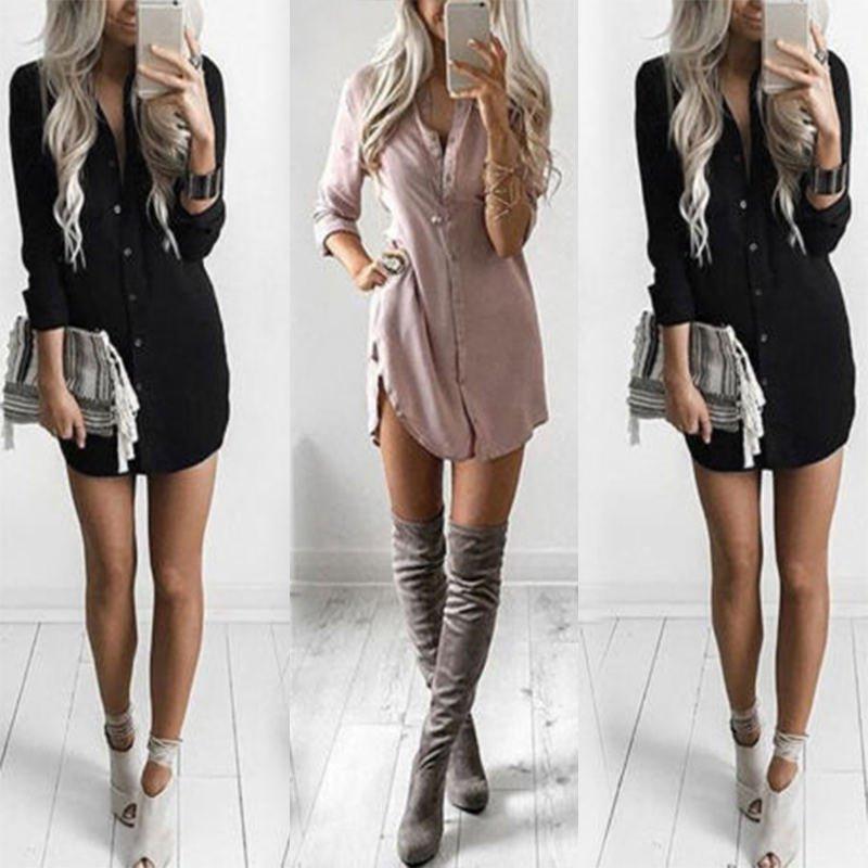 Fashion Women's Casual Loose Long Sleeve Blouse Shirt Tops New Fashion Blouse