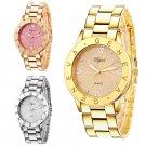 Elegant Geneva Women's Stainless Steel Roman Numerals Quartz Analog Wrist Watch