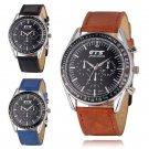 Fashion Stainless Steel Leather Sports Men's Boy Quartz Wrist Watches
