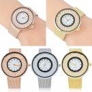 Fashion Women Stainless Steel Quicksand Lovers Bracelet Watch Quartz Wristwatch