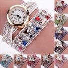 Women Fashion Crystal Band Bracelet Dial Quartz Dress Wrist Analog Watch Casual