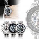 SKMEI Men Stainless Steel Watch Analog Digital Quartz Wrist Watch Fashion