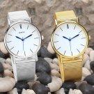 Men's Women's Attractive Geneva Mesh Band Round Dial Analog Quartz Wrist Watch
