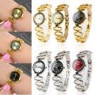 Luxury Women's Bracelet Stainless Steel Crystal Analog Quartz Dial Wrist Watch