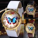 Womens Butterfly Style Quartz Analog Fashion Dress Bracelet Wrist Watch
