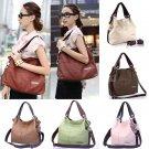 New Womens Crossbody Zip Plain Casual Shopping Satchel Handbag Shoulder Tote Bag