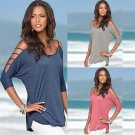 Women's Cotton Loose Short Sleeve Casual Shirt Tops T-Shirt Blouse New Fashion