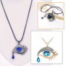 Hot Blue Eye Crystal Pendant Sweater Long Chain Necklace Gift