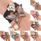 Women Vintage Fashion Butterfly Bracelet Dial Quartz Dress Wrist Analog Watch