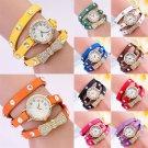 New Fashion Cute Women Ladies Girls Quartz Bracelet Leather Wrist Watch Gifts