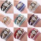 Fashion Women Watch Bracelet Crystal Leather Dress Analog Quartz Wrist Watch