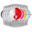 New Classic Women's Men Quartz Analog Stainless Steel Silver Mesh Wrist Watch